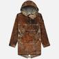 Мужская куртка анорак Stone Island Paintball Camo Fishtail Dark Brown фото - 0