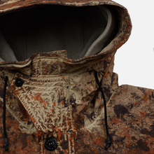 Мужская куртка анорак Stone Island Paintball Camo Fishtail Dark Brown фото- 1