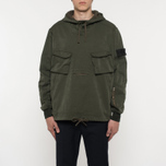 Мужская куртка анорак Stone Island Shadow Project Multipocket Hoodie Khaki фото- 5