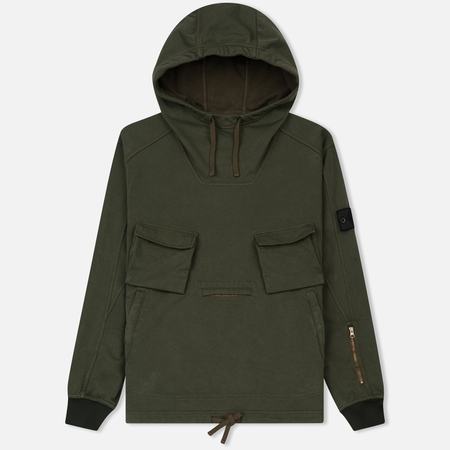Мужская куртка анорак Stone Island Shadow Project Multipocket Hoodie Khaki
