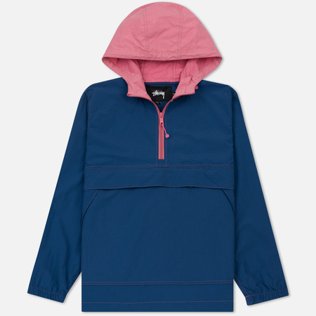 Мужская куртка анорак Stussy Contrast Stitch Pullover Navy