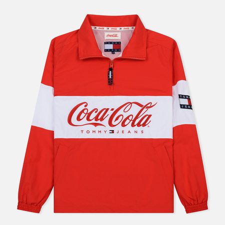 Мужская куртка анорак Tommy Jeans x Coca-Cola Logo Red