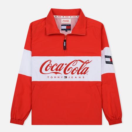 Мужская куртка анорак Tommy Jeans x Coca-Cola Logo Red