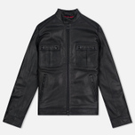 Мужская куртка Barbour International Triumph Locking Leather Black фото- 0