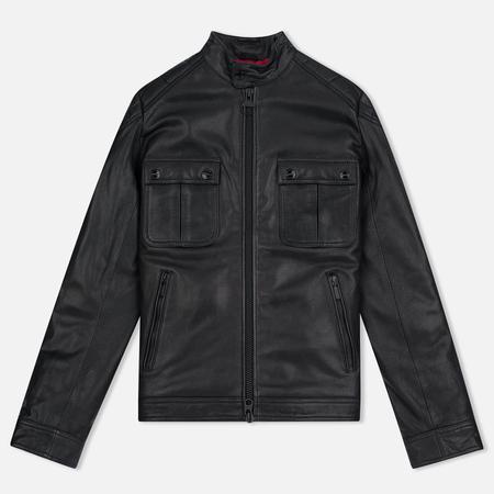 Barbour International Triumph Locking Leather Men's Jacket Black