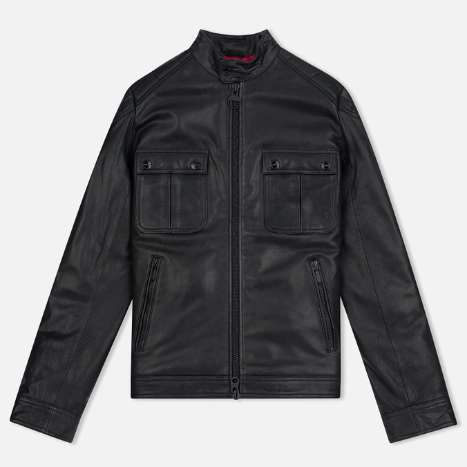 Мужская куртка Barbour International Triumph Locking Leather Black
