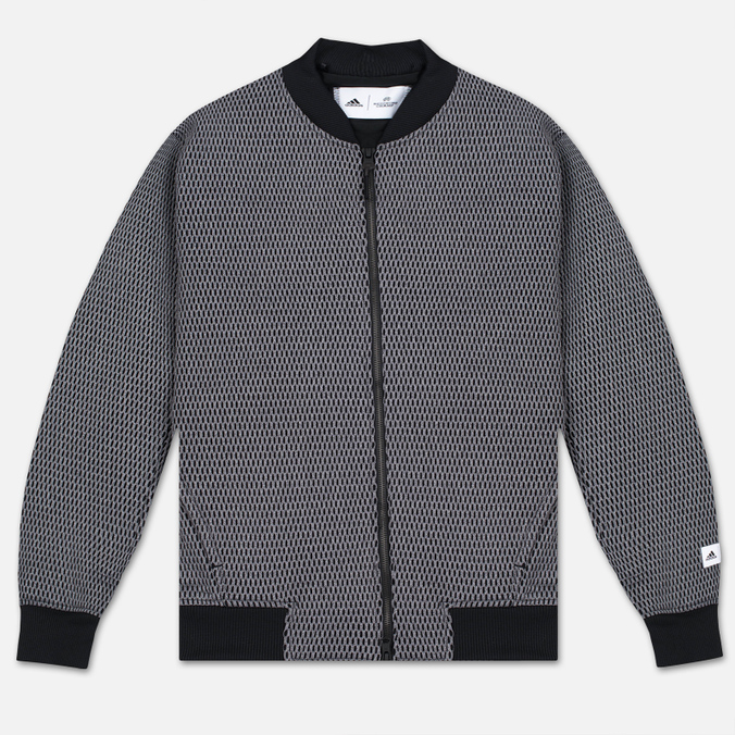 Мужская куртка бомбер adidas Originals x Reigning Champ Engineered Spacer Mesh Black Melange