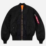 Мужская куртка бомбер Alpha Industries MA-1 Black фото- 0