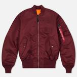 Мужская куртка бомбер Alpha Industries MA-1 Burgundy фото- 0