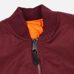 Мужская куртка бомбер Alpha Industries MA-1 Burgundy фото- 1