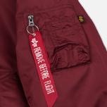 Мужская куртка бомбер Alpha Industries MA-1 Burgundy фото- 4