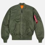 Мужская куртка бомбер Alpha Industries MA-1 Sage Green фото- 0