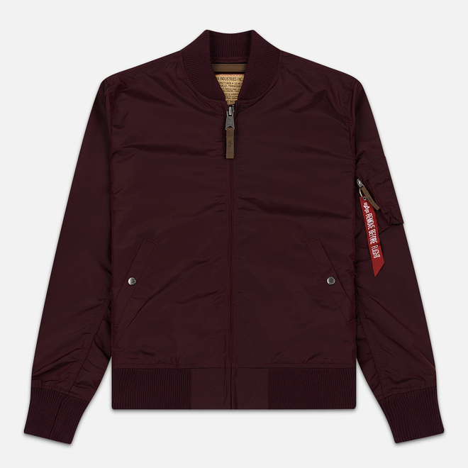 Мужская куртка бомбер Alpha Industries MA-1 TT Bordeaux