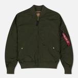 Мужская куртка бомбер Alpha Industries MA-1 TT Dark Green фото- 0