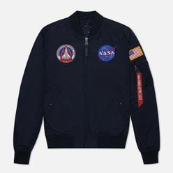 Мужская куртка бомбер Alpha Industries MA-1 TT NASA Reversible II Replica Blue