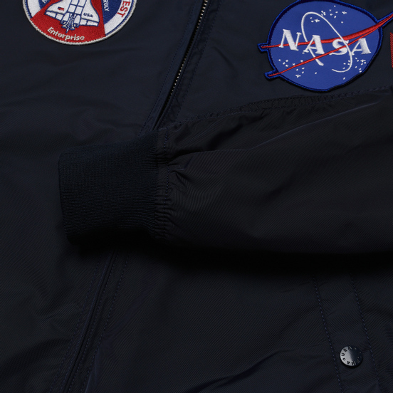 Мужская куртка бомбер Alpha Industries MA-1 TT NASA Reversible II Replica Blue