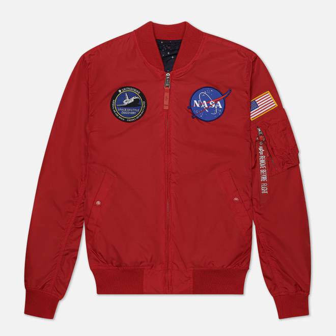 Мужская куртка бомбер Alpha Industries MA-1 TT NASA Reversible II Speed Red