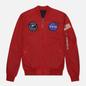 Мужская куртка бомбер Alpha Industries MA-1 TT NASA Reversible II Speed Red фото - 0