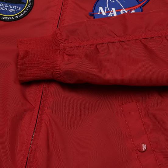 Мужская куртка бомбер Alpha Industries MA-1 TT NASA Reversible II Speed Red