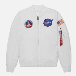 Мужская куртка бомбер Alpha Industries MA-1 TT NASA Reversible II White