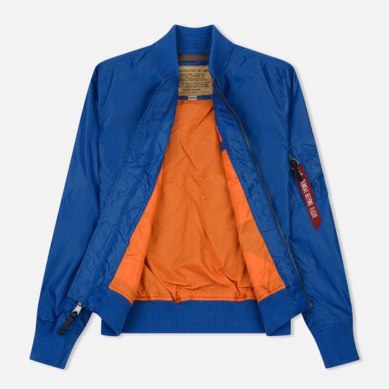 Мужская куртка бомбер Alpha Industries MA-1 TT Pacific Blue