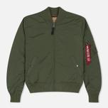 Мужская куртка бомбер Alpha Industries MA-1 TT Sage Green фото- 0