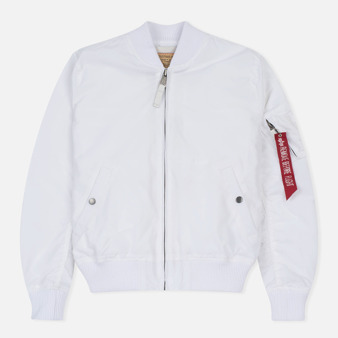 Мужская куртка бомбер Alpha Industries MA-1 TT White