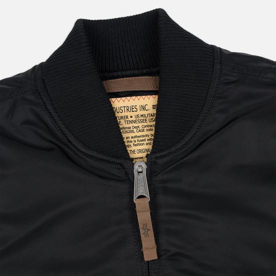Мужская куртка бомбер Alpha Industries MA-1 VF 59 Long Black