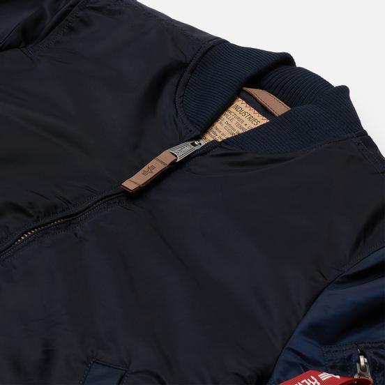 Мужская куртка бомбер Alpha Industries MA-1 VF 59 Replica Blue