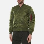 Мужская куртка бомбер Alpha Industries MA-1 VF 59 Sage Green фото- 3