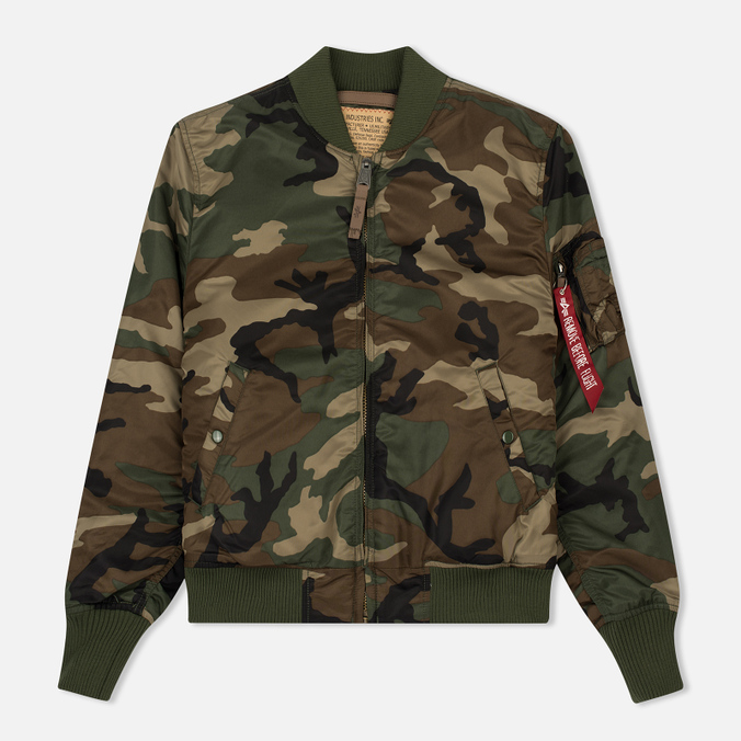 Мужская куртка бомбер Alpha Industries MA-1 VF 59 Woodland Camo