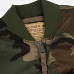 Мужская куртка бомбер Alpha Industries MA-1 VF 59 Woodland Camo фото- 1