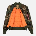 Мужская куртка бомбер Alpha Industries MA-1 VF 59 Woodland Camo фото- 2