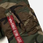 Мужская куртка бомбер Alpha Industries MA-1 VF 59 Woodland Camo фото- 5