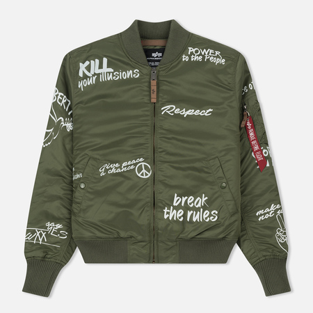 Мужская куртка бомбер Alpha Industries MA-1 VF Freedom Sage Green