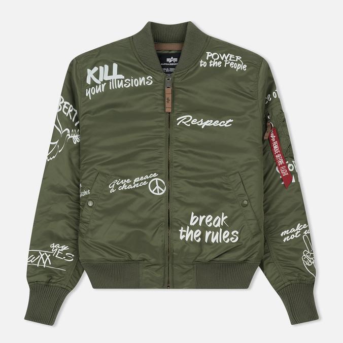 11f3050081ced Мужская куртка бомбер Alpha Industries MA-1 VF Freedom Sage Green ...