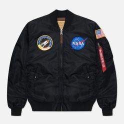 Мужская куртка бомбер Alpha Industries Nasa MA-1 VF Black