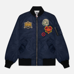 Мужская куртка бомбер Billionaire Boys Club Reversible Space Check MA-1 Navy