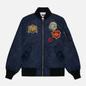 Мужская куртка бомбер Billionaire Boys Club Reversible Space Check MA-1 Navy фото - 0