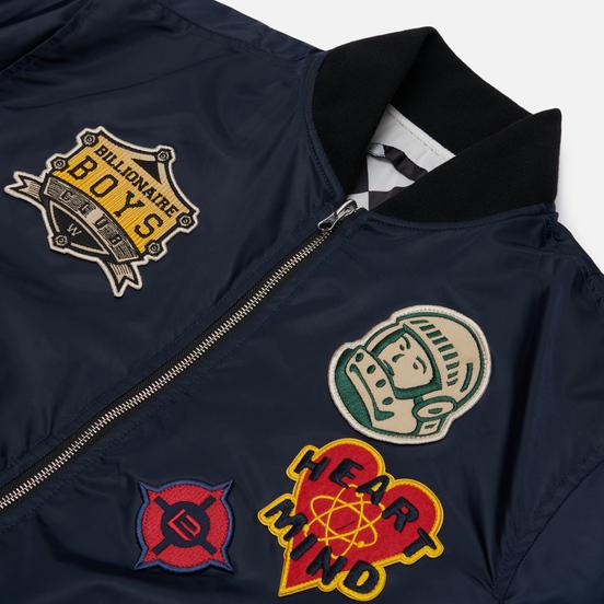 Мужская куртка бомбер Billionaire Boys Club Reversible Space Check MA-1 Navy