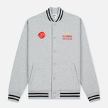 Мужская куртка бомбер Billionaire Boys Club Vegas Cotton Varsity Grey/Black фото- 0