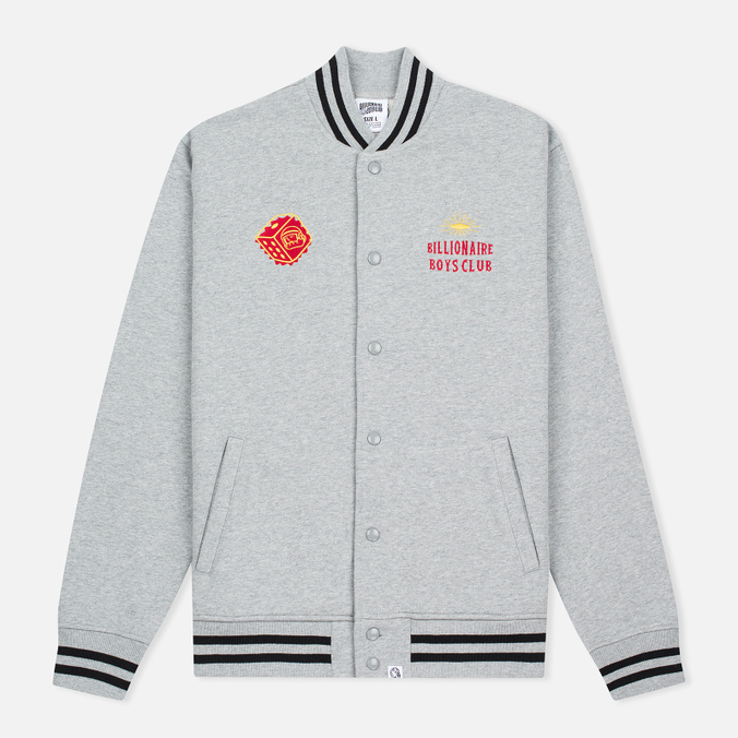 Мужская куртка бомбер Billionaire Boys Club Vegas Cotton Varsity Grey/Black