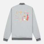 Мужская куртка бомбер Billionaire Boys Club Vegas Cotton Varsity Grey/Black фото- 4