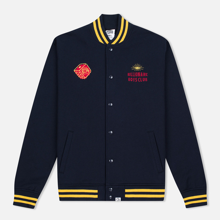 Мужская куртка бомбер Billionaire Boys Club Vegas Cotton Varsity Navy/Yellow