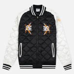 Мужская куртка бомбер Billionaire Boys Club Vegas Souvenir Black/Off White фото- 0