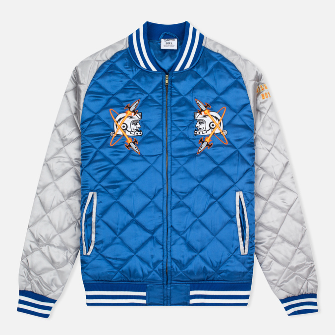 Мужская куртка бомбер Billionaire Boys Club Vegas Souvenir Blue/Silver