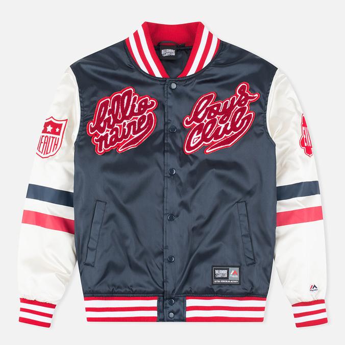 Мужская куртка бомбер Billionaire Boys Club x Majestic Eva Stadium Navy/Antique White