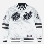 Мужская куртка бомбер Billionaire Boys Club x Majestic Eva Stadium Silver/Black фото- 0