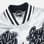 Мужская куртка бомбер Billionaire Boys Club x Majestic Eva Stadium Silver/Black фото- 2
