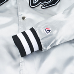Мужская куртка бомбер Billionaire Boys Club x Majestic Eva Stadium Silver/Black фото- 5